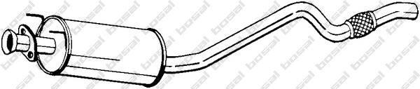 Silencieux intermédiaire BOSAL 282-433