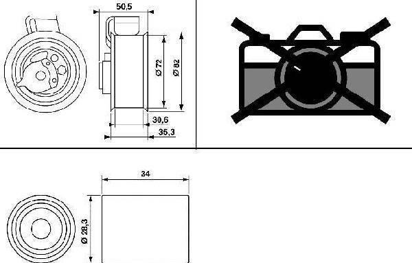 Kit de distribution GATES K025569XS