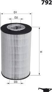 Filtre à huile moteur MECAFILTER ELH4216