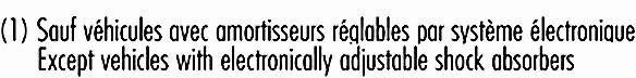 Amortisseur ARD/ARG RECORD 104124 (x1)