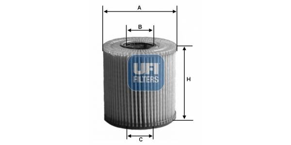 Filtre à huile moteur UFI 2501100